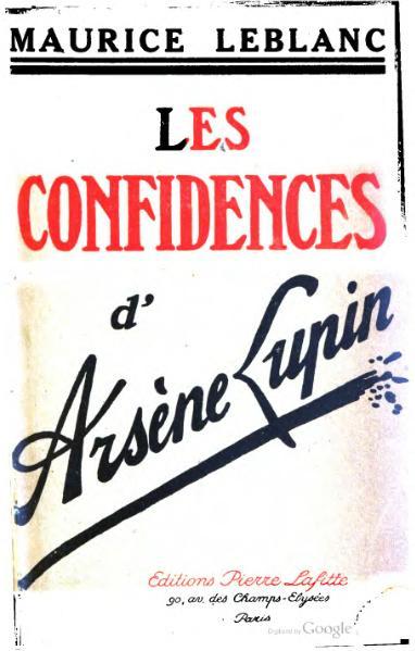 File:Leblanc - Les Confidences d'Arsène Lupin.djvu
