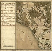 The Comte de Rochambeau's terrain map of the area produced during the American Revolutionary War