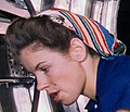 Left face detail, B17F - Woman workers at the Douglas Aircraft Company plant, Long Beach, Calif (cropped).jpg