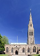 Leicester Cathedral panorama