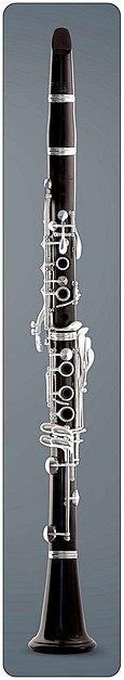 Clarinetto francese (Boehm) con 17 chiavi e 6 anelli, sviluppato nel 1843
