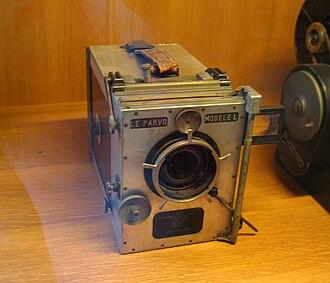 Hand-held camera - A Parvo Model L camera