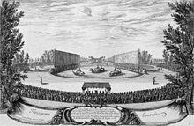 Les plaisirs de l'île enchantée (Die Freuden der Zauberinsel) in Versailles 1664 (Quelle: Wikimedia)