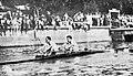 Les français Louis Hansotte (G.) et Georges Frisch (D.), champions d'Europe en double-scull en 1933 à Budapest.jpg