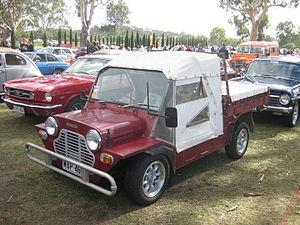 Mini Moke - Leyland Moke Pick-up with after-market wheels