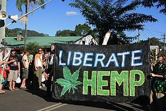 MardiGrass - Image: Liberate hemp protest