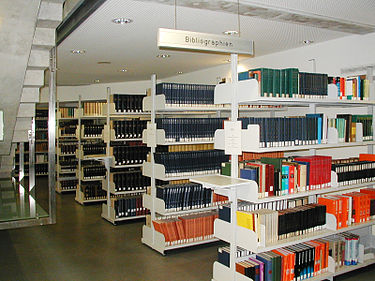 Bibliographies at the University Library of Graz Library-shelves-bibliographies-Graz.jpg