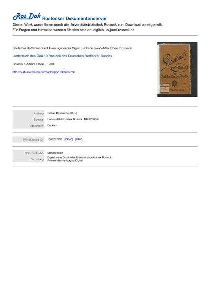 File:Liederbuch des Gau 19 Rostock des Deutschen Radfahrer-Bundes 1900.pdf
