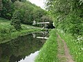 Lift bridge at The Moors, by Welshpool, on the Montgomery Canal - geograph.org.uk - 46994.jpg