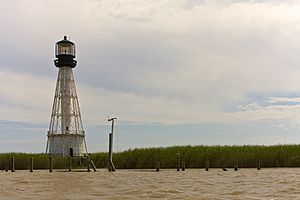 Port Eads, Louisiana - Lighthouse at Port Eads, April 2008