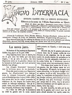 <i>Lingvo Internacia</i> (periodical) second Esperanto periodical, published monthly from 1895 to 1914