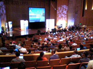 Linux Conference 2013 opening in Llewellyn Hall at the Australian National University in Canberra.