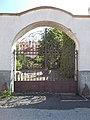 Listed school gate, Lázár St., Veszprém, 2016 Hungary.jpg