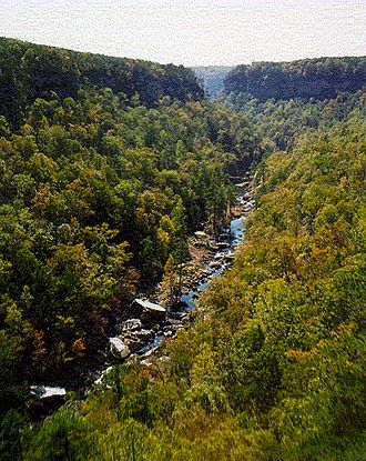 Fort Payne, Alabama - Little River Canyon, just outside Fort Payne city limits (National Park Service photo)