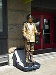 Living statue of D. B. Cooper.JPG