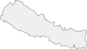 Koshi Tappu Wildlife Reserve - Image: Loc Map Koshi Tapu