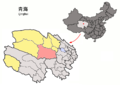 Location of Dulan within Qinghai (China).png