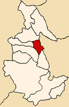 Location of the province Vilcas Huamán in Ayacucho.png