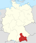 Locator map Oberbayern in Germany.svg