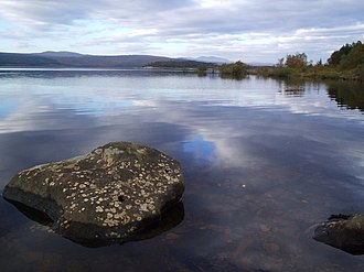 Geography of Scotland - Loch Shin is one of many freshwater bodies in Scotland.