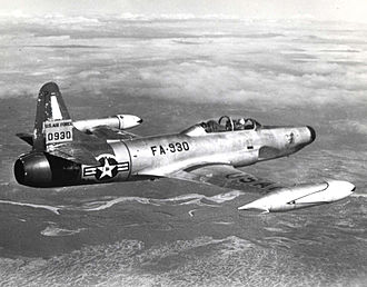 Lockheed F-94 Starfire - A U.S. Air Force F-94B Starfire in flight.