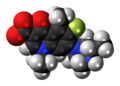 Lomefloxacin zwitterion spacefill.png