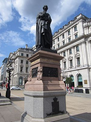 Statue of Sidney Herbert, London - The statue in 2014