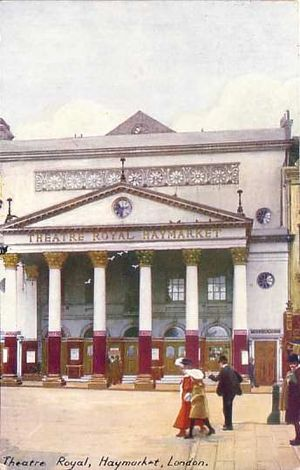 Eliza Haywood - Haymarket Theatre, where Haywood acted, beginning in the late 1720s (image: ca. 1900)