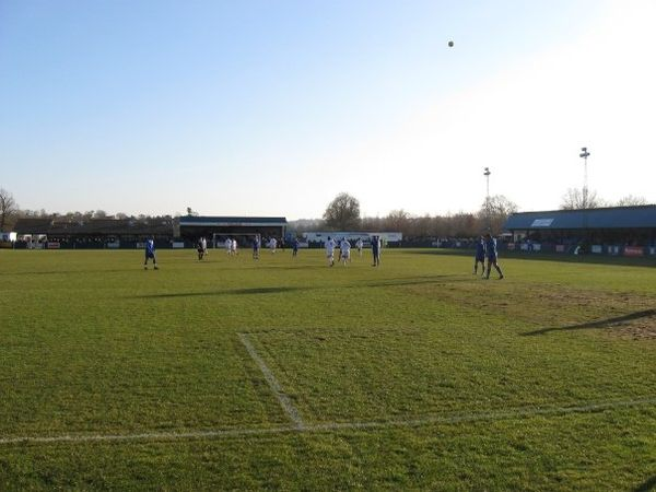 The Longmead Stadium from the Jack Maddams Stand. The West Stand is on the right. Longmead Stadium.jpg