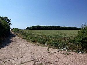 RAF Ludford Magna - Image: Looking towards Harpgates Plantation geograph.org.uk 201014