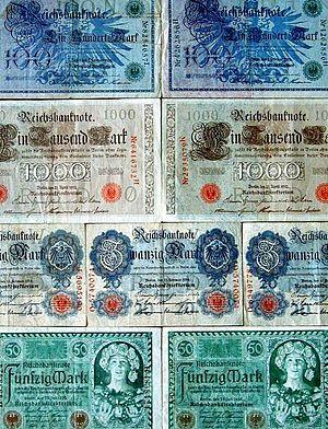 Banknoten - Deutsches Reich - 1908 - 1910 - 19...