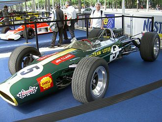 Lotus 49 - A Lotus 49 presented as it would have appeared in the early part of the 1968 season, just prior to the introduction of Gold Leaf Team Lotus colours