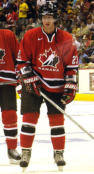 Luc Bourdon - Bourdon on August 15, 2005, at GM Place for Team Canada Hockey Day