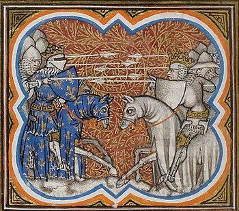 The Battle of Brémule in the Grandes Chroniques de France, 14th century