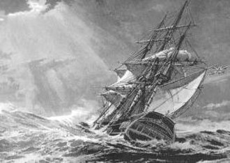HMS Lutine (1779) - HMS Lutine in distress