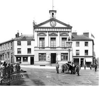 Luton Town Hall - The Town Hall in 1897, from George Street, Luton