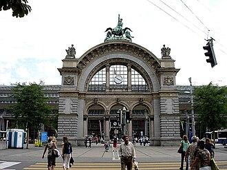 Lucerne railway station - Image: Luzernbahnhof