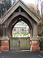 Lych gate, St Michaels and All Angels Church, Cherry Burton - geograph.org.uk - 590296.jpg