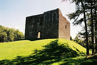 Lydford Castle - Lydford Castle's tower, seen from the north-west