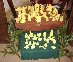 Nativity scene from butter