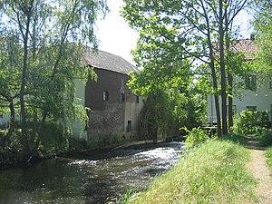 Wurm - Zwei Mühlen on the Wurm between Schloss Rimburg (D) and the village of Rimburg (NL)