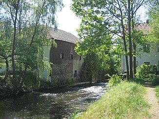 Two mills on the Wurm between Rimburg Castle (D) and Rimburg (NL)