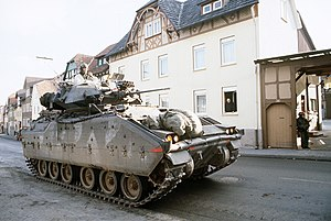 CENTAG wartime structure in 1989 - A M2 Bradley from 7th Infantry Regiment, 3rd Infantry Division during REFORGER '85