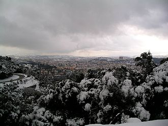 Nuoro - View of Nuoro in winter from Monte Ortobene.