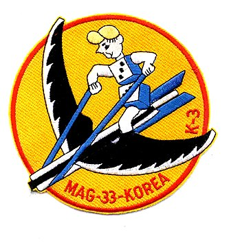 Marine Aviation Training Support Group 33 - MAG-33 insignia used during the Korean War.