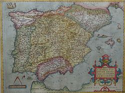 1570 map of the Iberian Peninsula