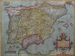 1570 mappa della penisola iberica