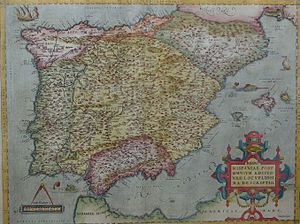 Iberian Union - Political map of the Iberian Peninsula in 1570