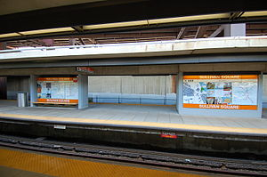 Rapid transit station in Boston, Massachusetts