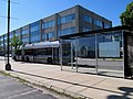 MBTA route SL2 bus at Design Center Place, June 2017.JPG